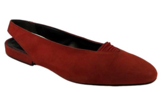 Fiordiluna Women's Italian 932 Sling Back Close Toe  Suede Sandals