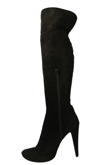 Giardino Principi Women's 4167 Italian  High Heel Party Suede over the Knee boot