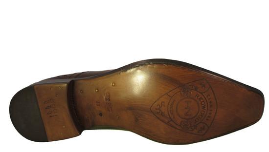 Redwood Men's Italian 6971 Oxford Lace Up Dressy Shoe Brown