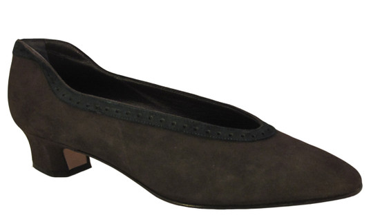 Mima 623 women's low heel suede pump