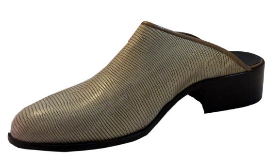 Davinci 6450 Italian Closed Toes Half Shoes Bone
