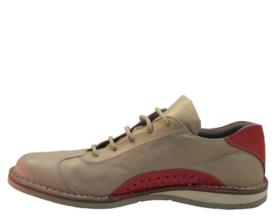 Davinci Men's Italian Leather Casual Lace Up Shoes