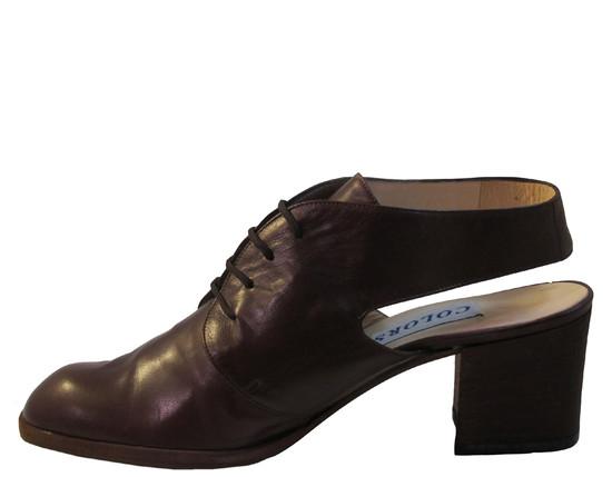 Colors Women's 108 Italian Leather Sling back Low Heel Shoes