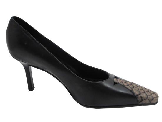 Women's Davinci Italian Dressy/Casual Leather Shoes 4104 Tan and Black