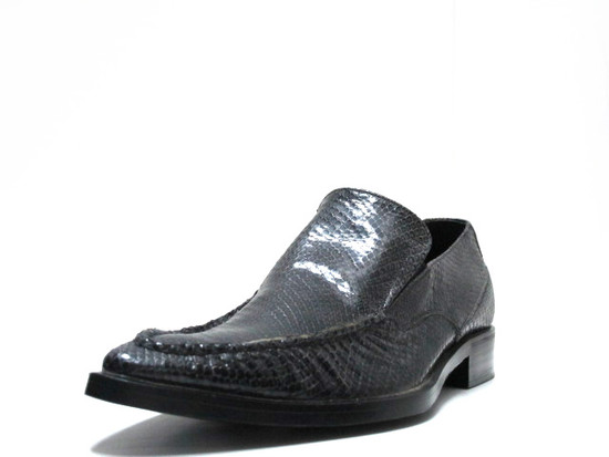 Men's Doucals Itlian Snake Leather Dressy slip on shoes 7011