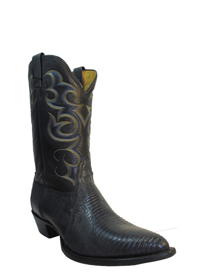 Nocona blue lizard western boot pointy toe. Great for every day wear.