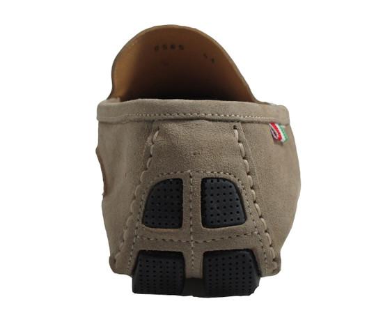 Men's Davinci Slip on Italian Suede shoes 8565,navy and Beige