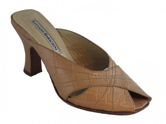 Barachini Women's 9918 Italian Dressy Slip On Peep Toe Sandal