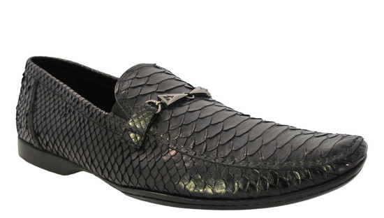 Davinci Men's Italian Slip-on Dressy Python 78901