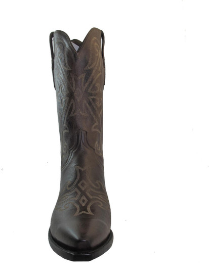 Men's Lucchese 1883 Cowboy Boots Brown Pointy Toe N1640.54
