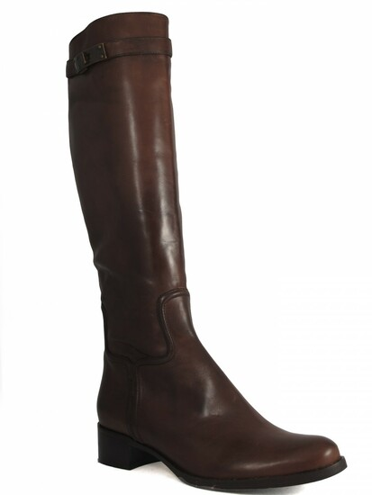 Le Pepe Women's Italian Leather Knee high Flat Boots 670218