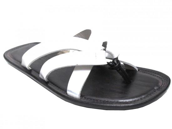 Doucal's 213 Men's Italian Dressy Leather Push In Toe Sandals