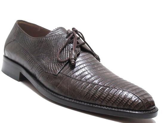 Mezlan Men's 3020 Lizard Lace Up Shoes Brown