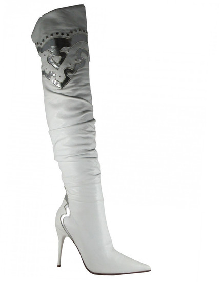 Biondini 5998 White Silver over the knee