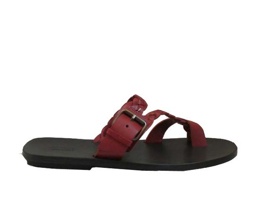 Men's Davinci 1432 Braided Leather Pushin Toe Sandals