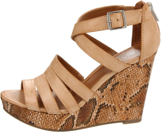 Kenneth Cole Reaction Women's Live From Strappy Platform Cork Sandal Heel