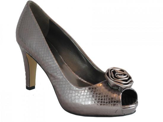 Women's Mid heel Peep Toe Sandal Pewter A-office By Franco Sarto