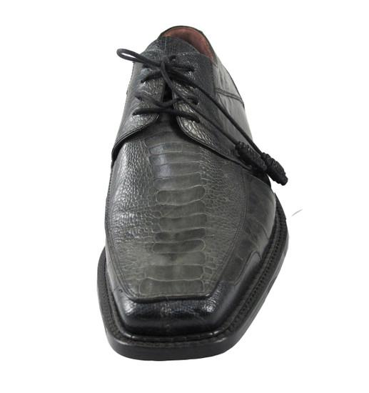 Men's Mezlan Two Tone Lace-up Square Toe Ostrich Leg/Eel Bellini