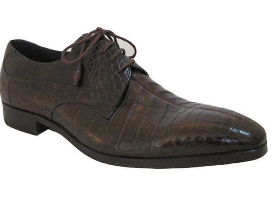 Dark Brown Alligator Lace up shoes By Mezlan Byrne