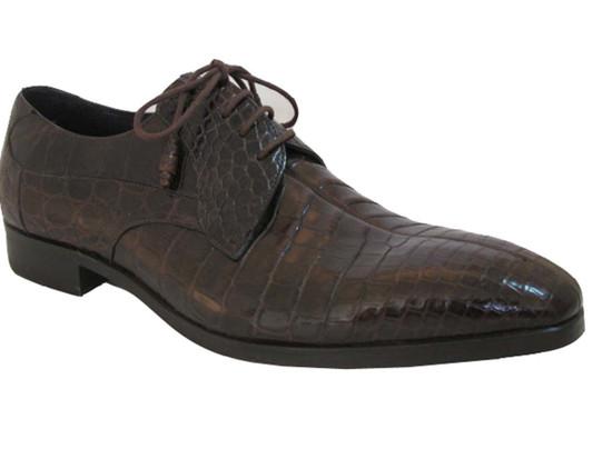 Dark Brown Alligator Lace up shoes By Mezlan Byrne
