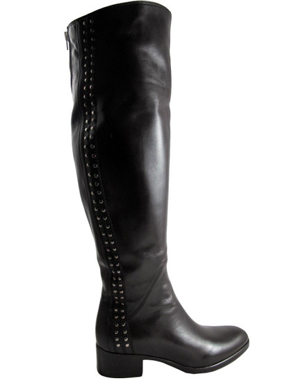 417467  knee high Brown Boot
