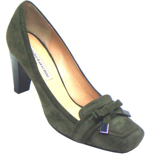 Barachini Women's  12262  Green Suede