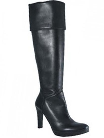 Julie Dee Women's 4421 Italian  Over The Knee Mid-Heel Boots Black
