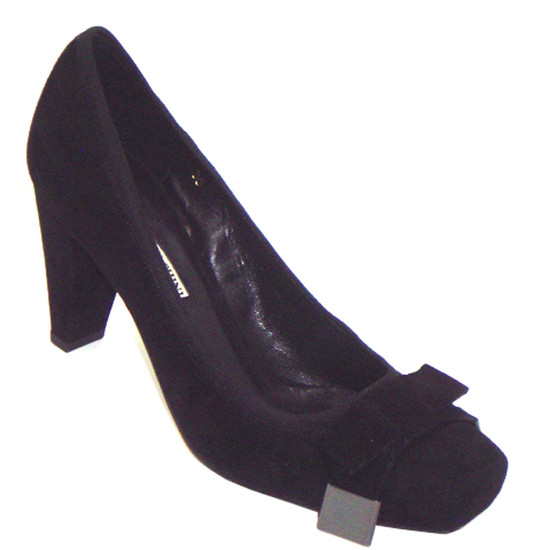 Barachini Women's Italian Leather Suede Pump 12261, Black