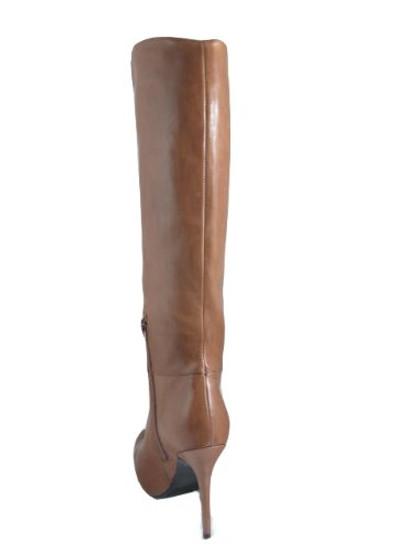 Barachini Women's 18568 Dressy High-heel Italian Leather Boot in Tan