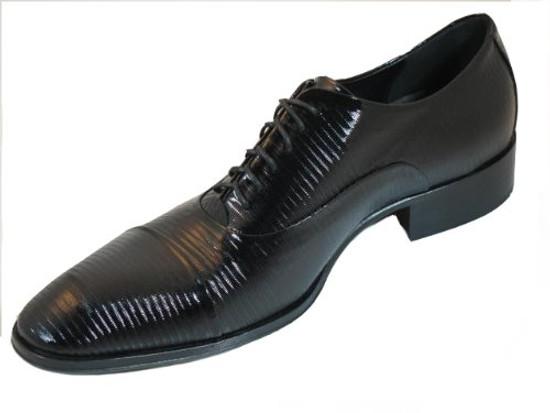 Jo Ghost 1273 Men's Italian Dressy Lace Up Oxford Shoes Black