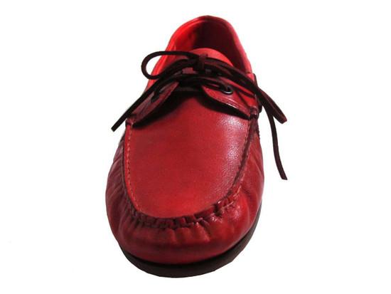 Davinci Men's Slip-On Driving Moc M3003 Made By Boemos, Tan, Red