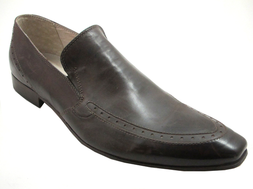 Men/'s doucals italienne Serpent Cuir Dressy slip on shoes 7011