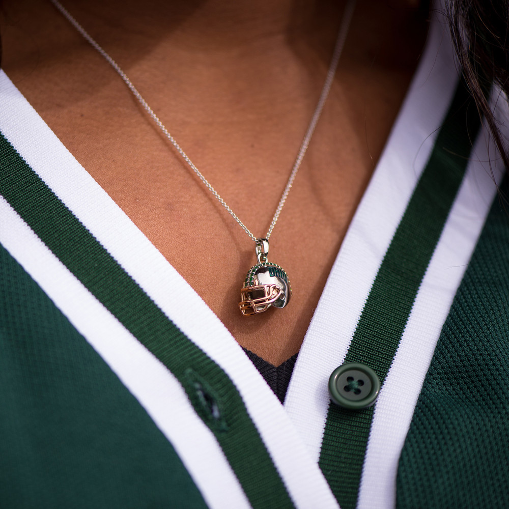 OHIO FOOTBALL HELMET NECKLACE