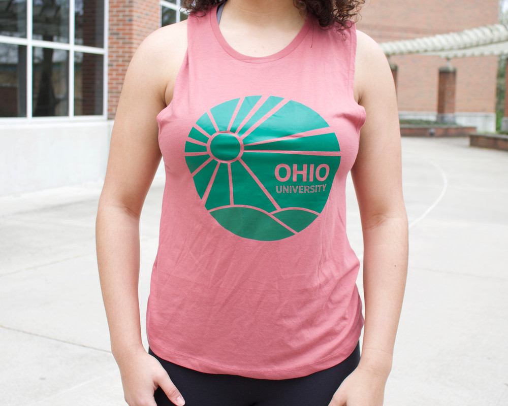 WOMEN'S OHIO UNIVERSITY SUNRISE MUSCLE TANK