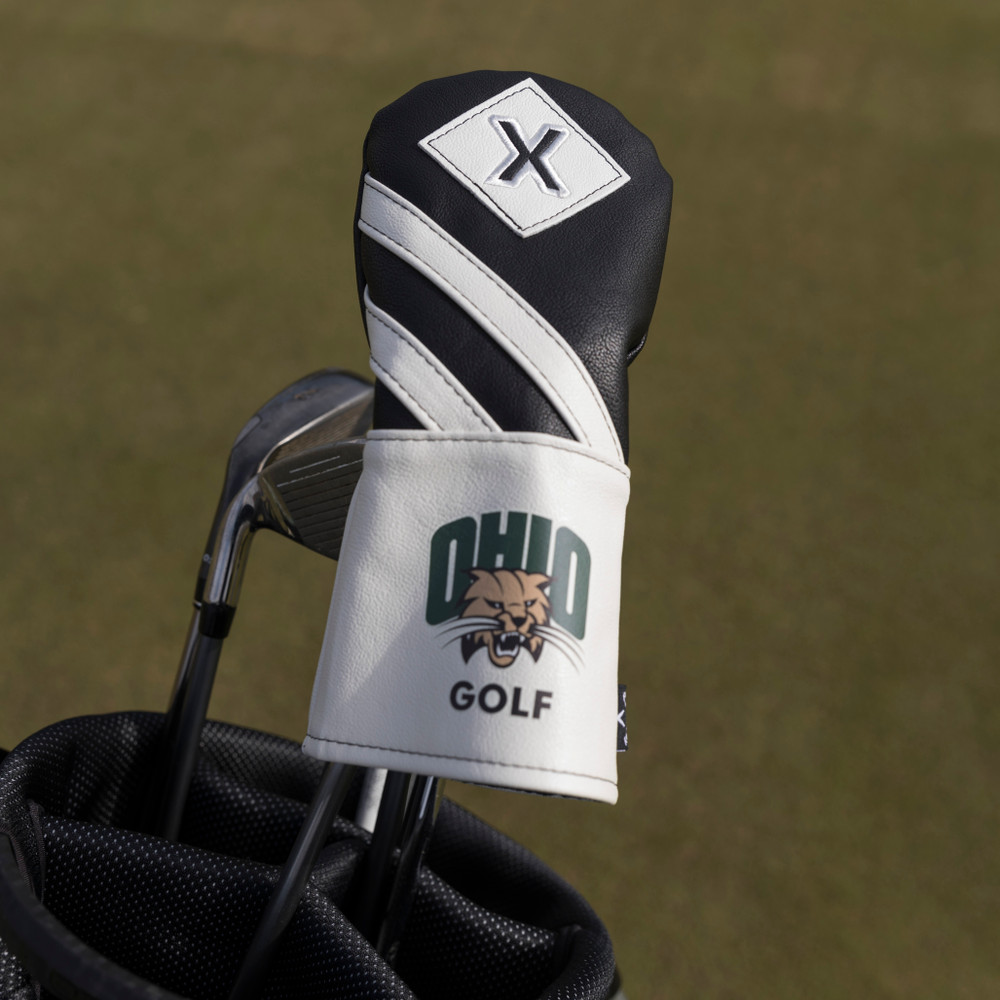 OHIO GOLF CALLAWAY LEATHER X WOOD BLACK HEADCOVER