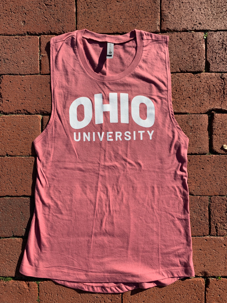 WOMEN'S ARCHED OHIO UNIVERSITY MUSCLE TANK