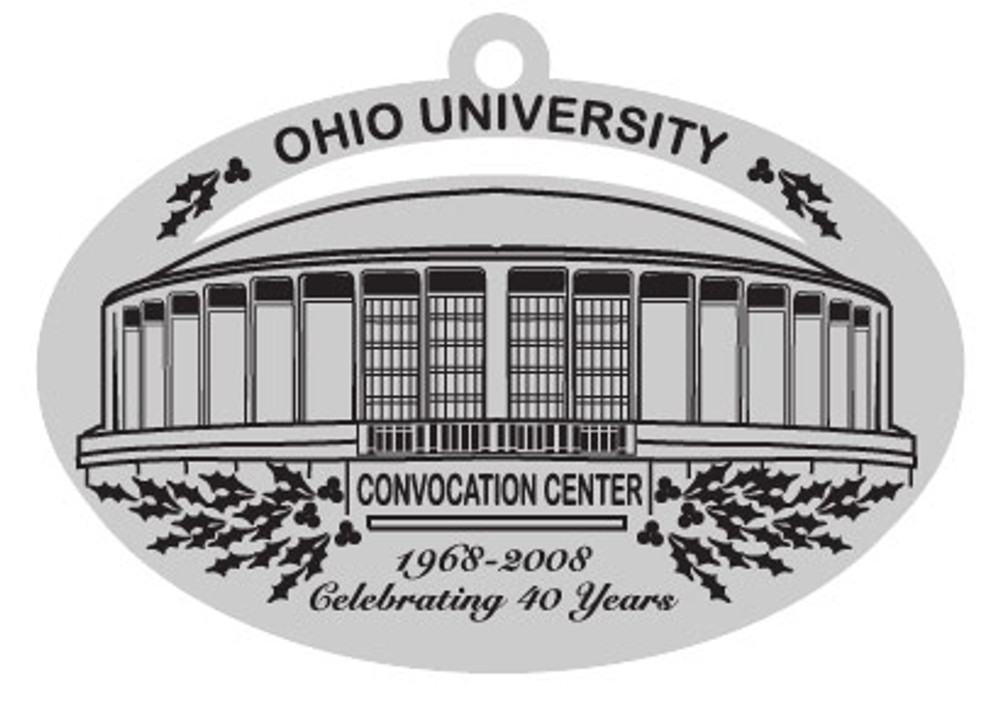 2008 PEWTER HOLIDAY ORNAMENT