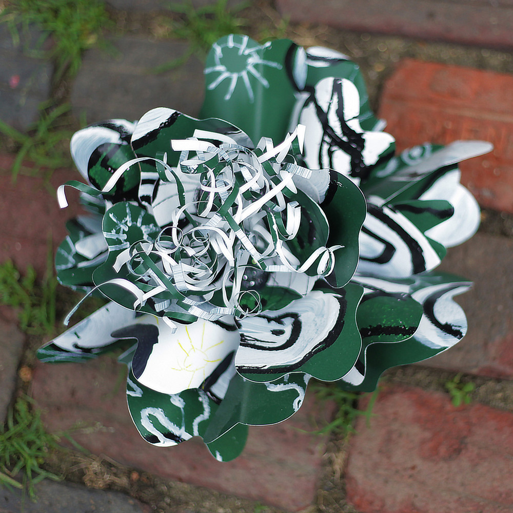 GREEN AND WHITE BOBCAT PASSION FLOWER-LARGE