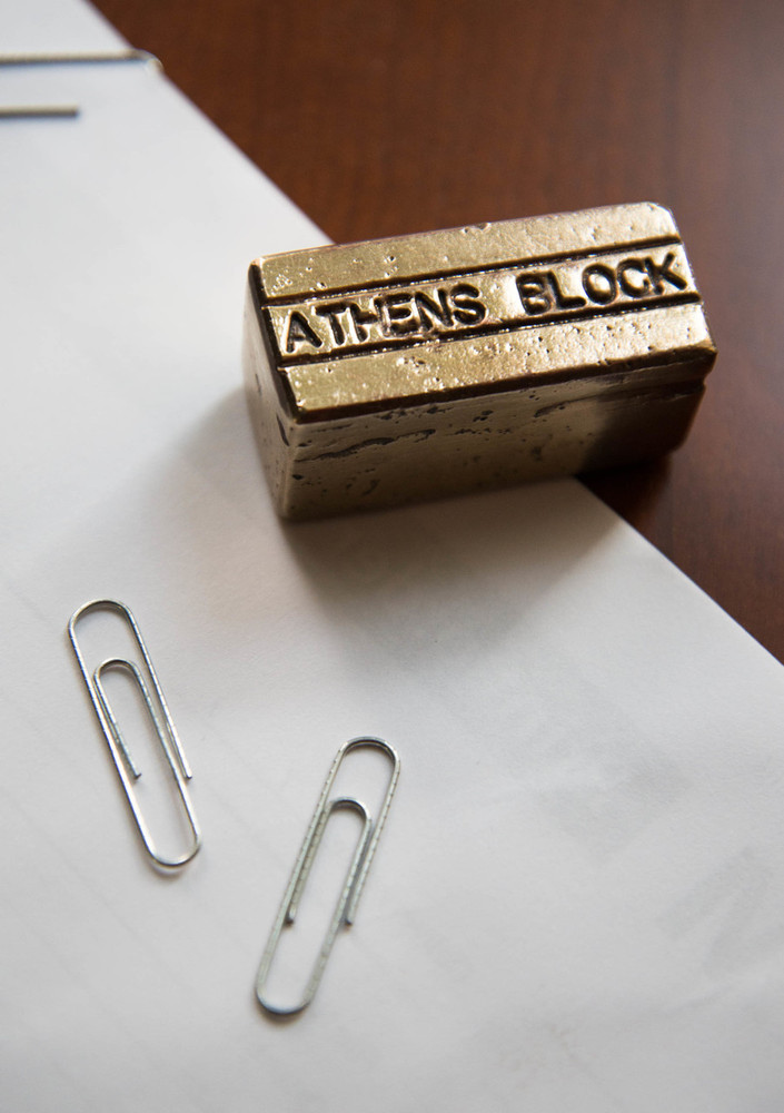 ATHENS BLOCK PAPER WEIGHT