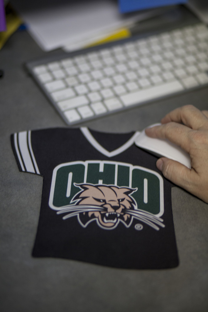 Your favorite team will keep you company while you work with this Attack Cat Jersey Mousepad.