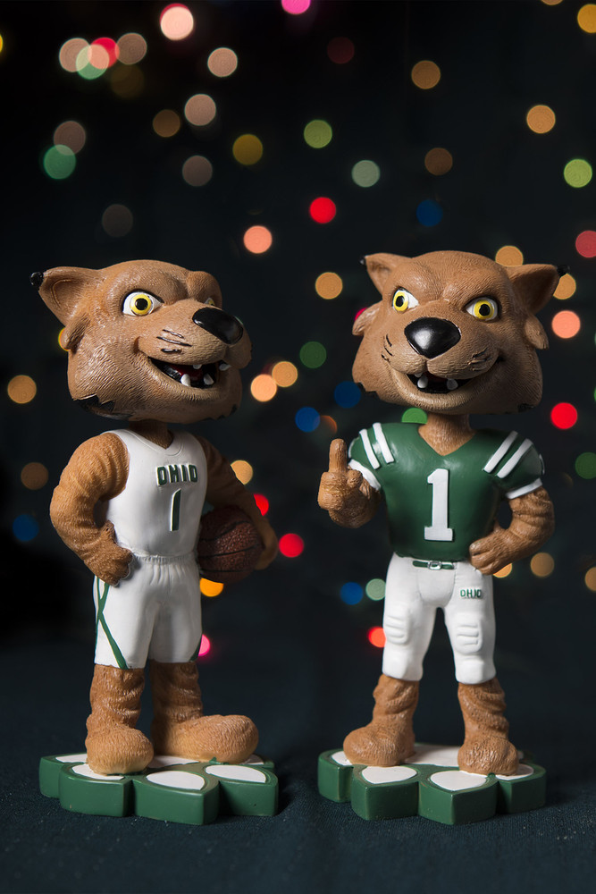 Your choice! Choose either the Football Rufus Bobblehead or the Basketball Rufus Bobblehead to create the perfect gift for your Bobcat Sports Fan.