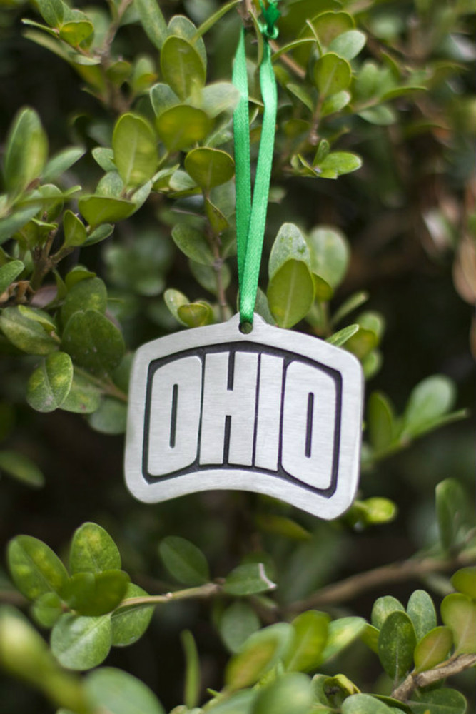 ARCHED OHIO PEWTER ORNAMENT