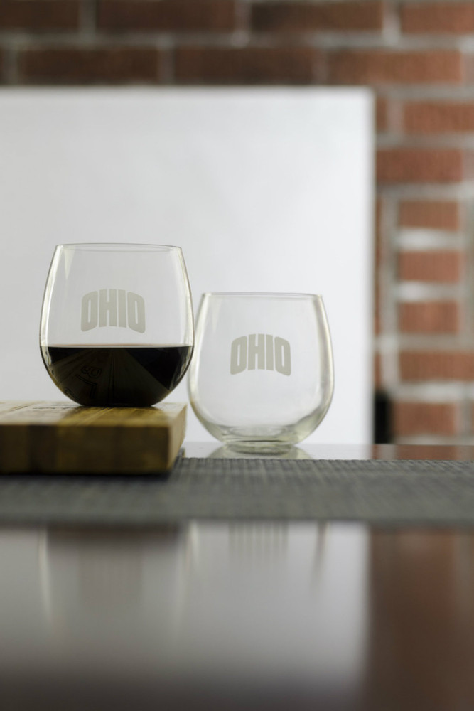 Red Stemless Glasses