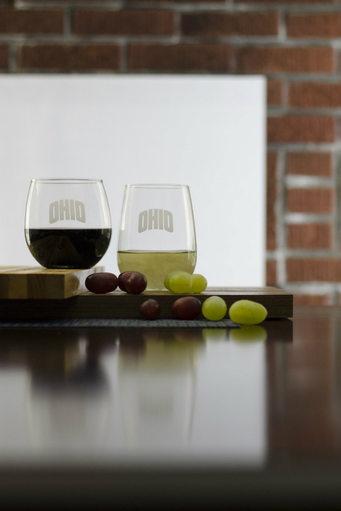 ARCHED OHIO STEMLESS WINE GLASS SET
