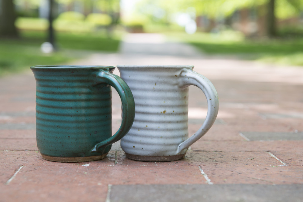 Enjoy your favorite beverage in this unique mug set handcrafted in southeast Ohio by Rock Riffle Run Pottery.