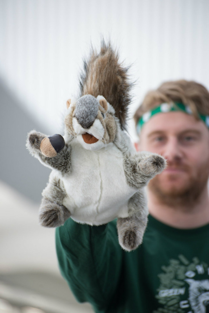 GREY SQUIRREL HAND PUPPET
