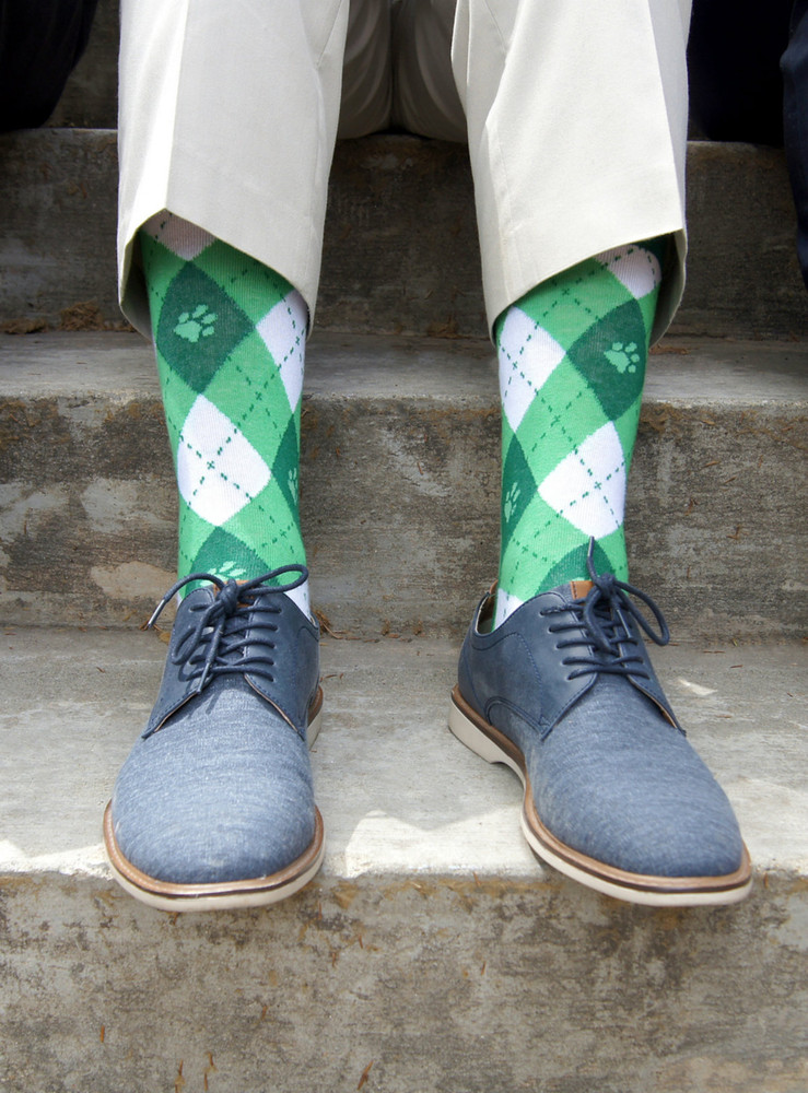 OHIO UNIVERSITY ARGYLE DRESS SOCKS