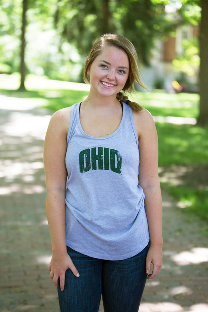 WOMEN'S ARCHED OHIO RACER BACK TANK TOP