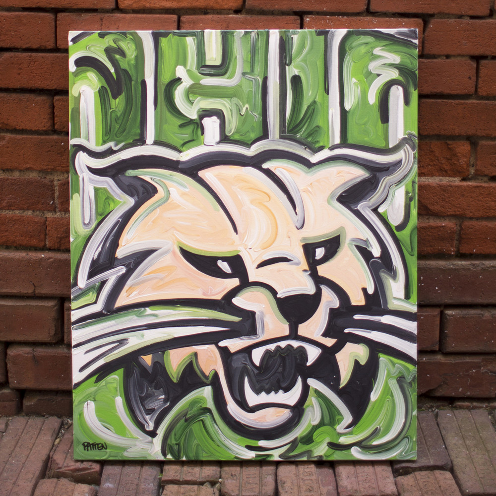 JUSTIN PATTEN ATTACK CAT PAINTING