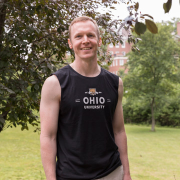 MEN'S ATTACK CAT OHIO BANNER MUSCLE TANK